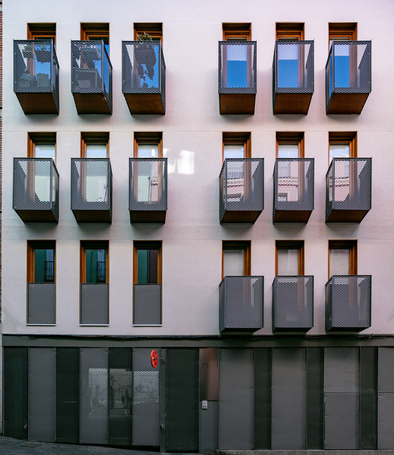 fachada acabada de promoción buenavista en madrid