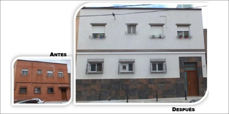 antes y después de una rehabilitación en Murcia
