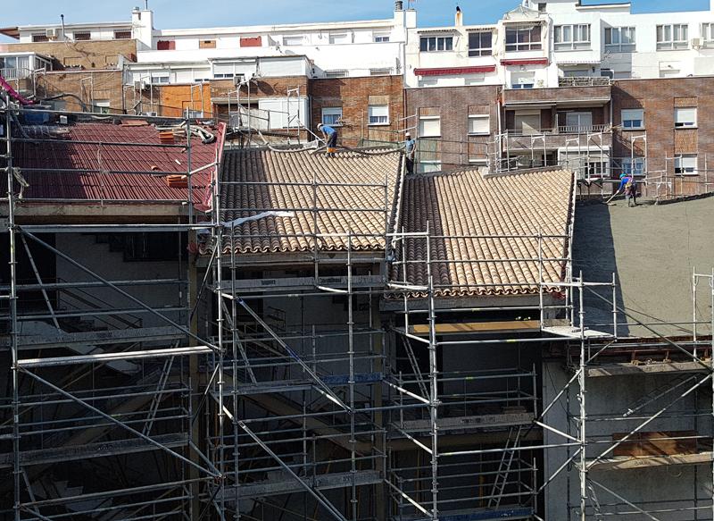 escuela artes algeciras trabajos en el tejado