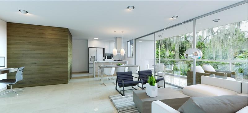 interior apartamento urbanización verdevivo