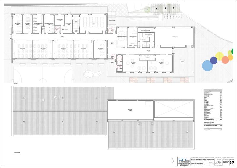 Plano del Colegio Público de Ituren.
