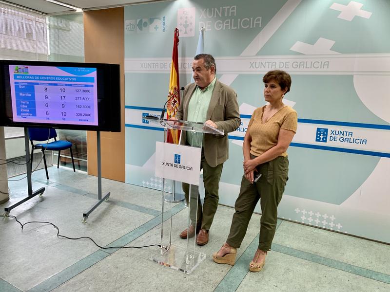 El delegado territorial de la Xunta, José Manuel Balseiro, explicó los detalles de esta aportación complementaria.