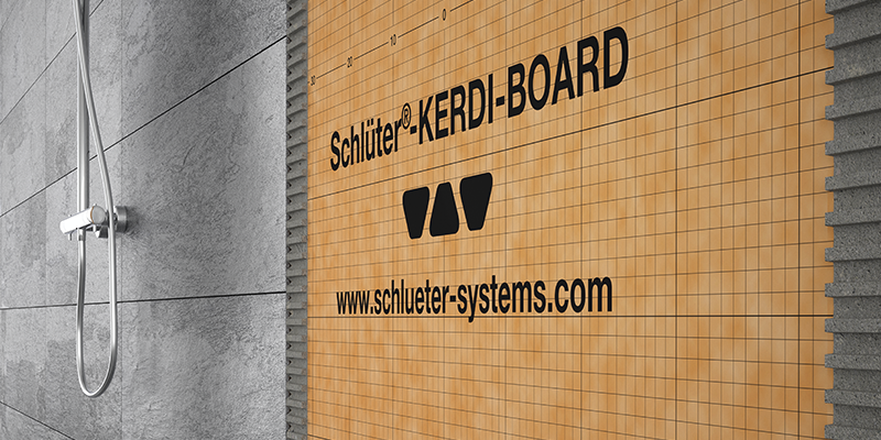 Diseño integral de baños modernos de Schlüter-Systems.