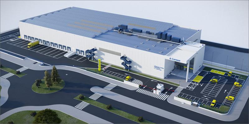 Nuevo centro logístico de Correos en el aeropuerto de Madrid-Barajas Adolfo Suárez.