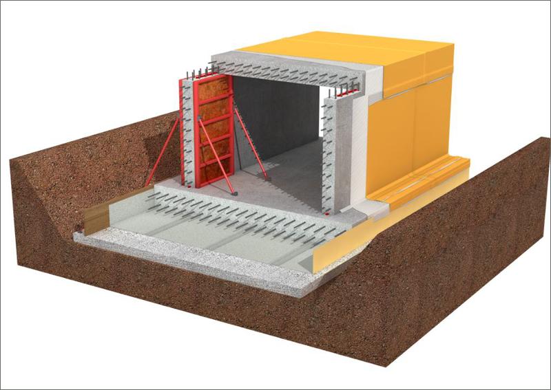 Sistema de Sika para proteger las estructuras enterradas frente a la entrada de agua y gases, incluyendo el gas radón y metano.
