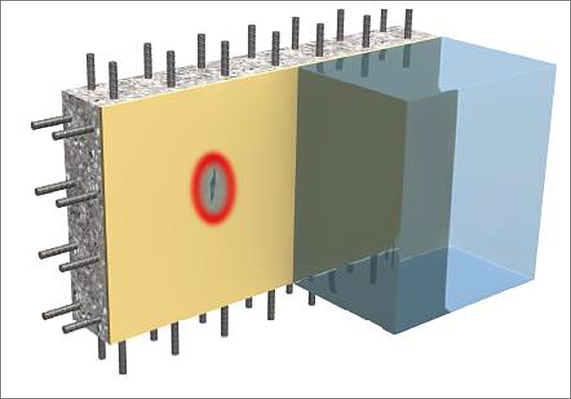 Una de las características de la membrana impermeable es la capacidad de puenteo de las fisuras.
