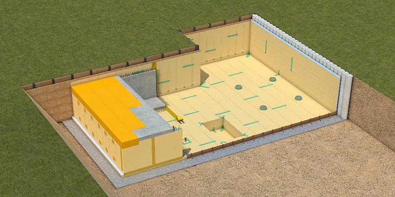 Sika ofrece una solución de membranas impermeables que se colocan fácilmente sobre toda la estructura enterrada bajo el edificio sin necesidad de soldadura.