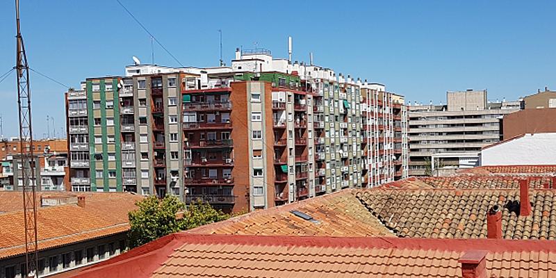 imagen de tejado y edificios aragón