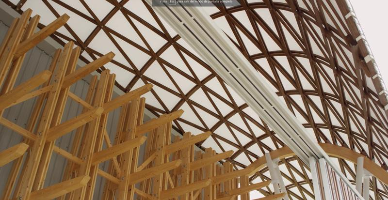 Prototipo de la estructura de lámina reticular (Gridshell) desarrollada y construida por PEMADE.