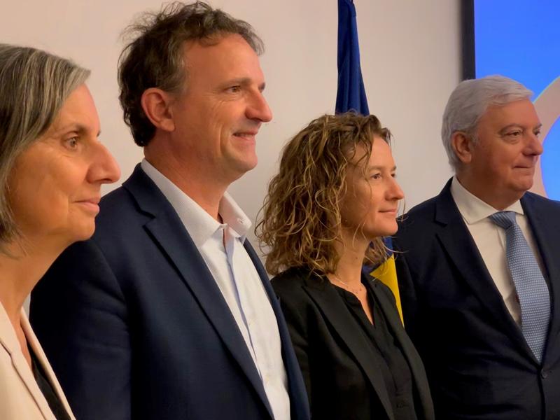 Al encuentro asistieron la ministra Silvia Calvó, Gerard Cadena (presidente de la CEA) y el presidente del Institut de l'Economia Circular de França, François-Michel Lambert.