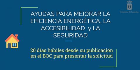 Canarias publica convocatorias para mejorar la eficiencia energética, sostenibilidad y accesibilidad de viviendas