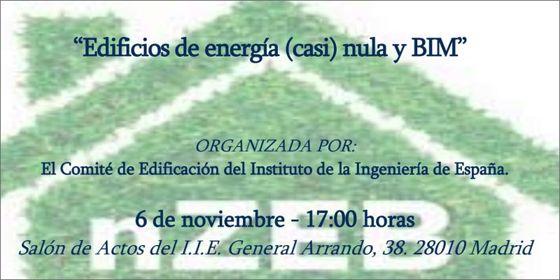 jornada 'Edificios de energía casi nula y BIM' en Madrid