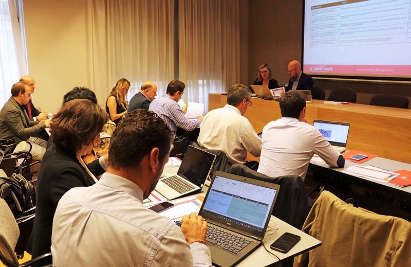 Miembros del Comité Técnico del VI Congreso Smart Grids durante la segunda reunión de trabajo.