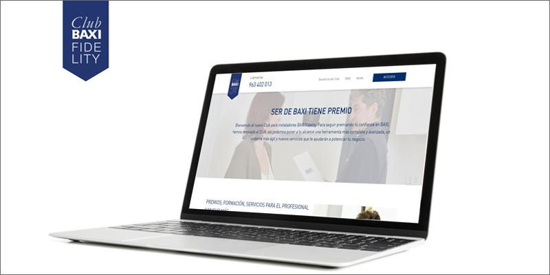 plataforma web climatización Baxi Fidelity