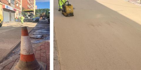 El asfalto frío se implementa en las calles de Murcia para mejorar la calidad del aire y minimizar el calor urbano