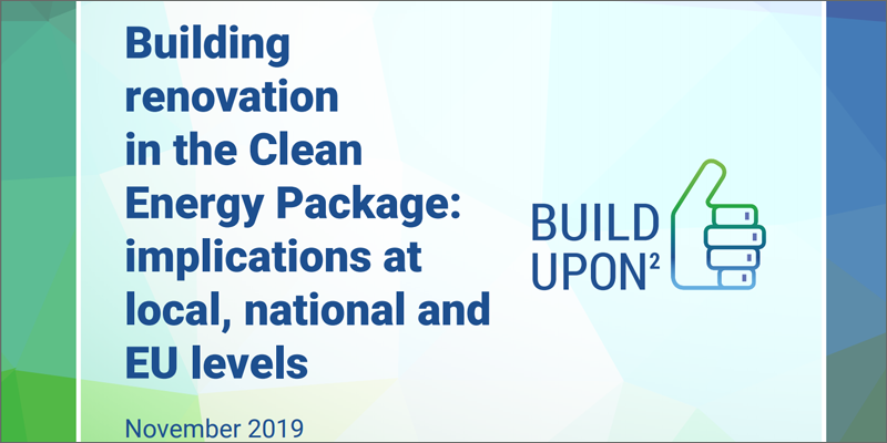 portada Building renovation in the Clean Energy Package: implications at local, national and EU levels'