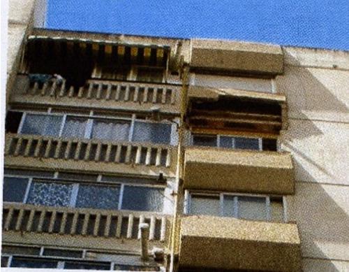 Desprendimiento de edificio
