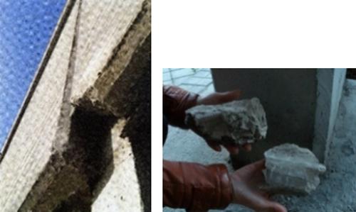 Desprendimiento paneles de fachada
