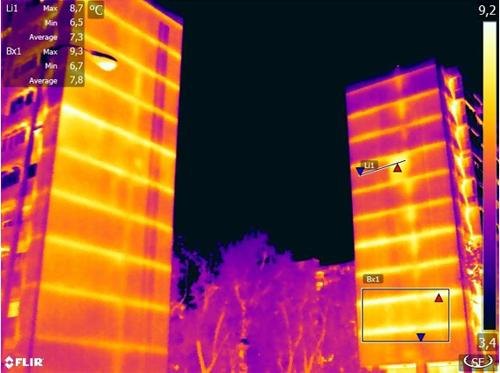 termografía de un edificio
