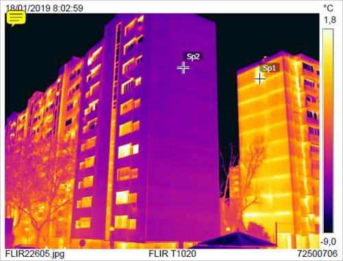 termografía de edificio