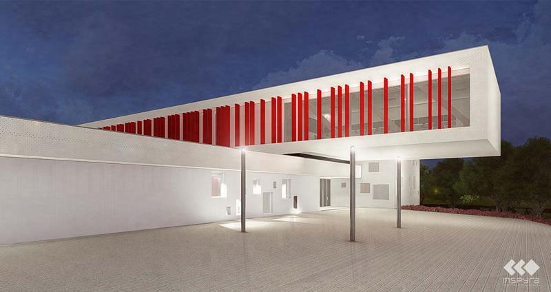 diseño del IES La Florida, en Oviedo