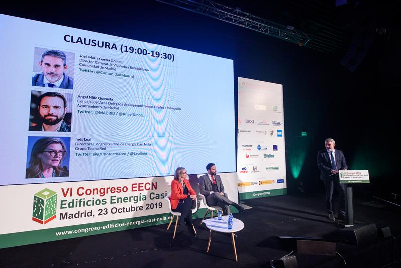 José María García Gómez, director general de Vivienda y Rehabilitación de la Comunidad de Madrid, en su intervención de Clausura del VI Congreso Edificios Energía Casi Nula.