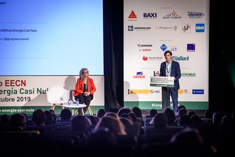 Francisco Javier Martín, director general de Arquitectura, Vivienda y Suelo del Ministerio de Fomento, en su intervención durante la inauguración del Congreso.