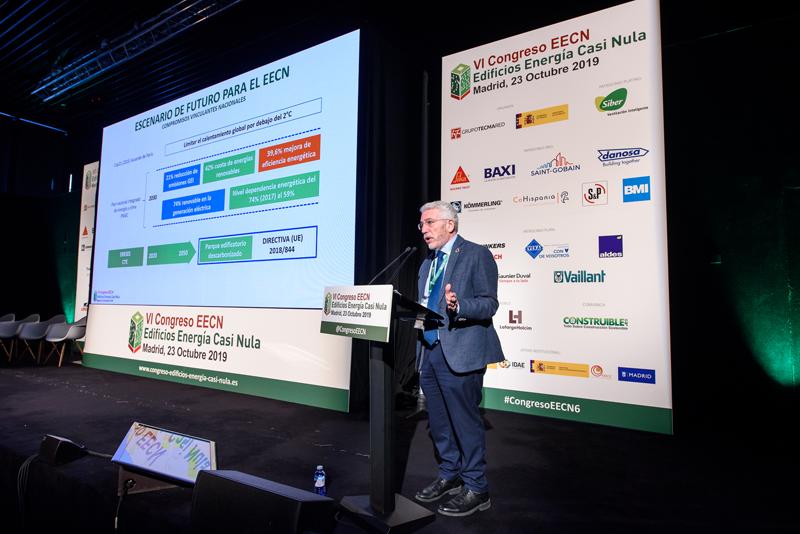 Luis Vega, subdirector general de Arquitectura y Edificación de la Dirección General de Arquitectura, Vivienda y Suelo del Ministerio de Fomento, durante la Conferencia Magistral.