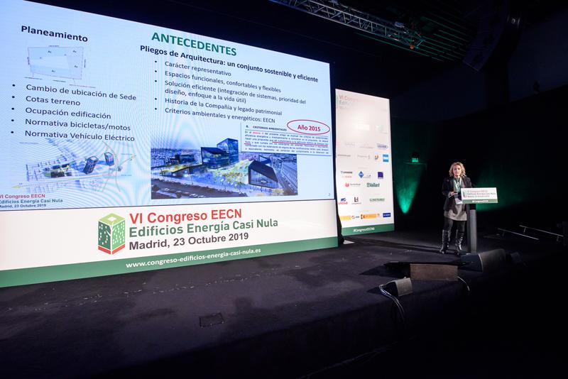 Mª Luz de Baldasano durante la ponencia del proyecto de Metro de Madrid.