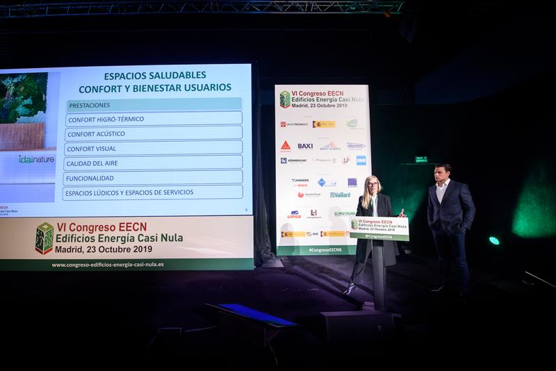 Rubén Muedra e Isabel Sánchez presentaron el proyecto del edificio de oficinas Idae Nature.