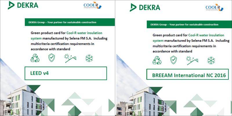 Cartas verdes de LEED y BREEAM para COOL-R.