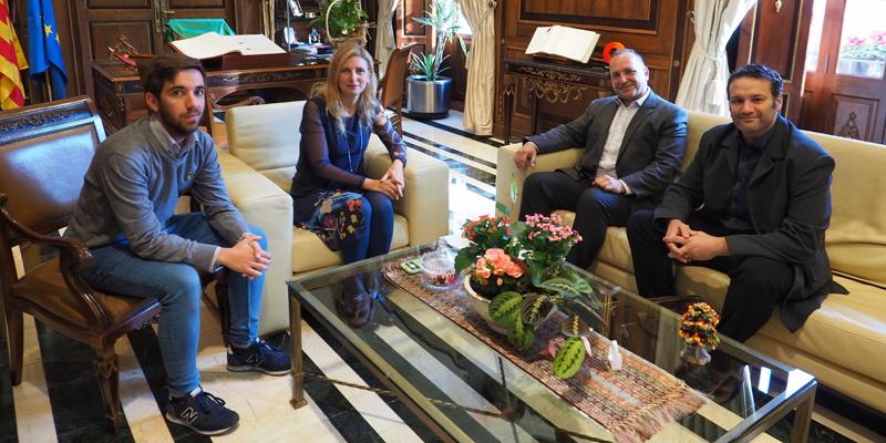 El vicepresidente segundo y conseller de Vivienda, Martínez Dalmau, reunido con la alcaldesa de Castellón, Amparo Marco.