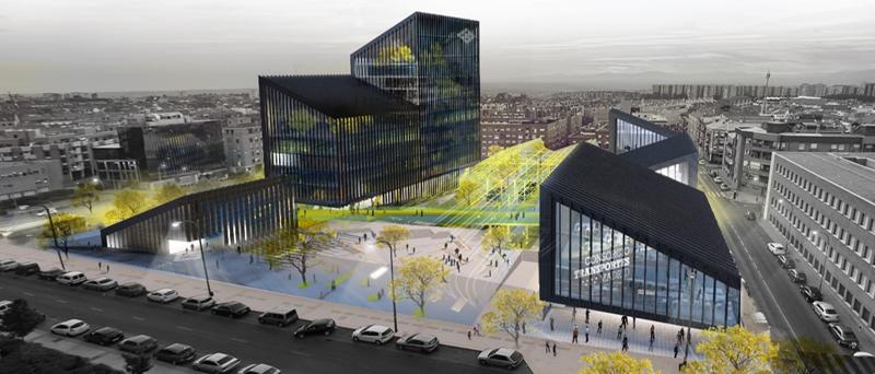 Imagen de la futura sede de Metro de Madrid.