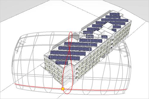 cubierta de edificio con paneles fotovoltaicos
