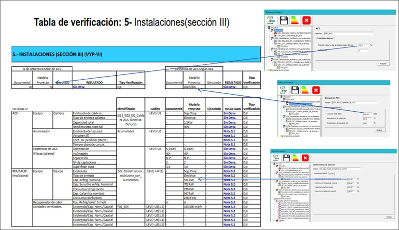 Figura 1. Tabla de verificación de instalaciones.