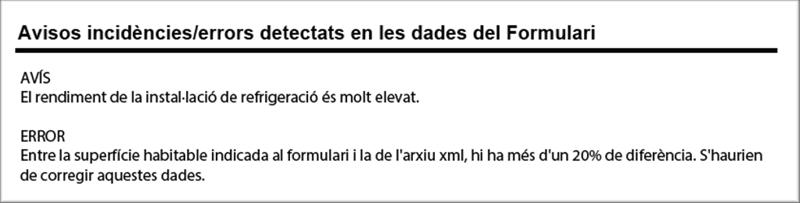 Figura 3. Imagen de mensaje de error y de aviso en el formulario de inscripción al registro de certificados.