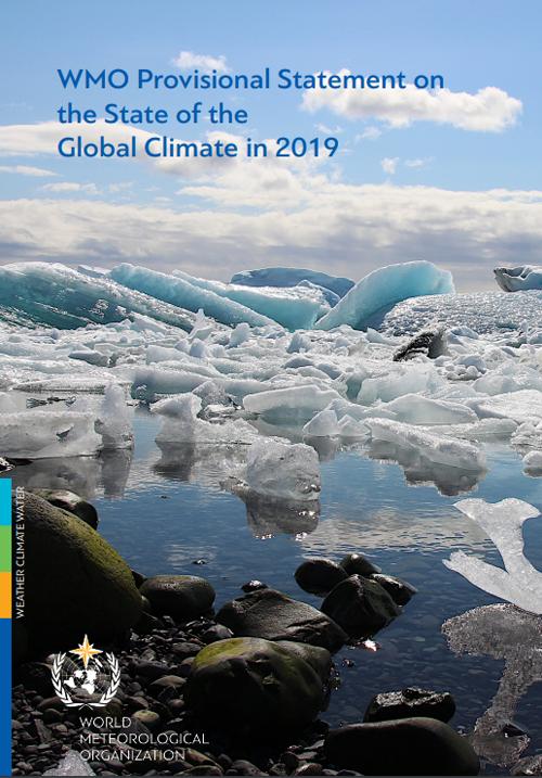 portada del informe del estado del clima mundial de la omm