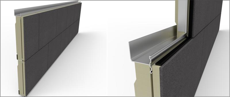 Sistema Vetur-Kit de Mutipanel, con detalle del perfil en imagen de la derecha.