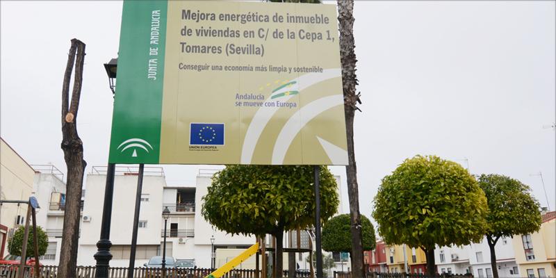 Las 30 VPO están ubicadas en la Plaza de La Cepa de Tomares.