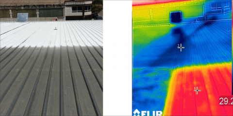 Aplicación de pintura termo-reflectante en cubiertas de supermercados para mejorar el aislamiento térmico