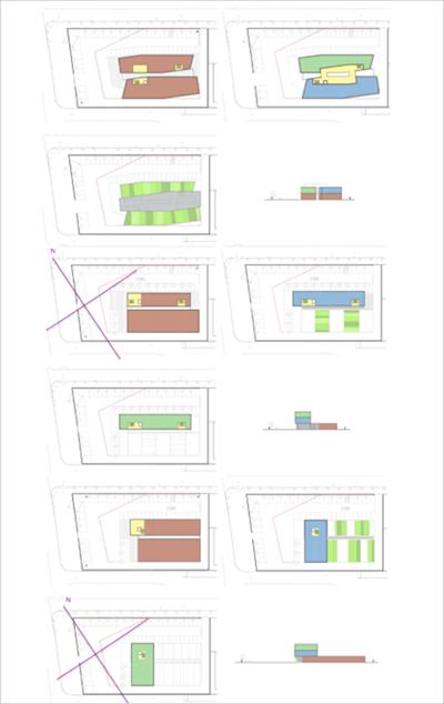 Figura 1. Modelos arquitectónicos 1 (arriba izq.), 2 (arriba dcha.) y 3 (abajo) presentados por arquitectura.