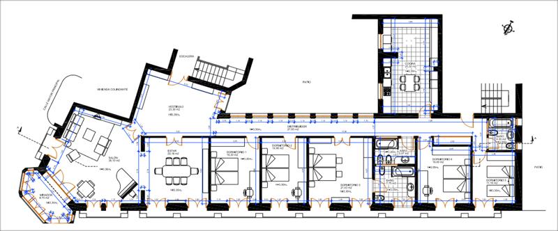 Figura 2. Plano de planta de la rehabilitación inicial propuesta.