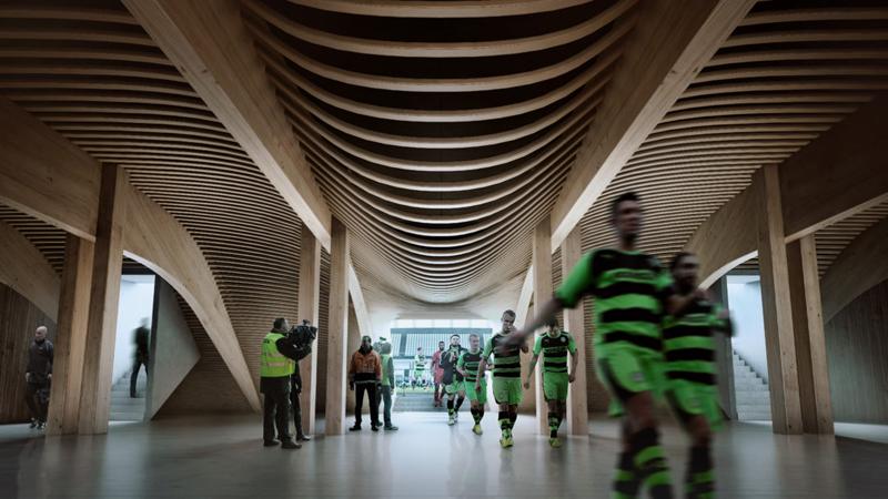 interior ecopark túnel de jugadores