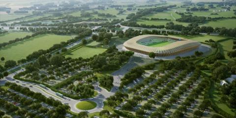 Eco Park Stadium, el primer estadio de fútbol de madera del mundo y con la menor huella de carbono