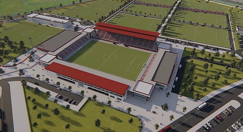 Infografía del aspecto de las futuras instalaciones del FC Sevilla.