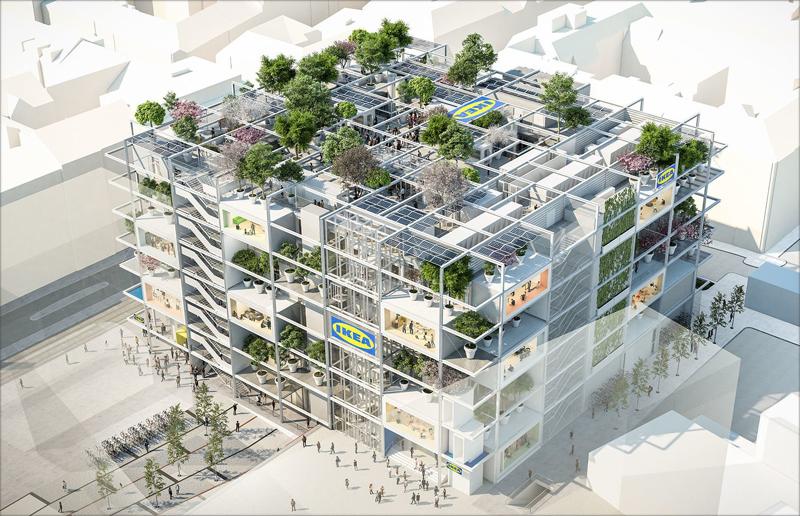 Aspecto del futuro centro City Ikea, en Viena.