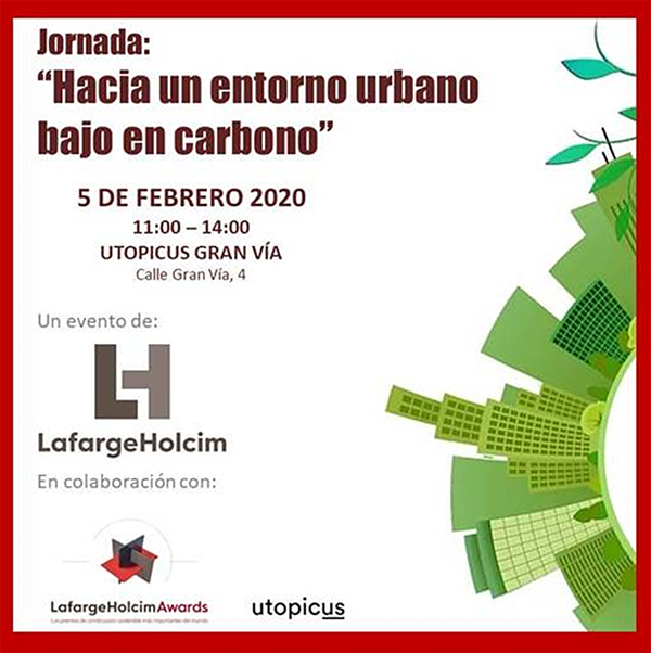 cartel jornada descarbonización de ciudades