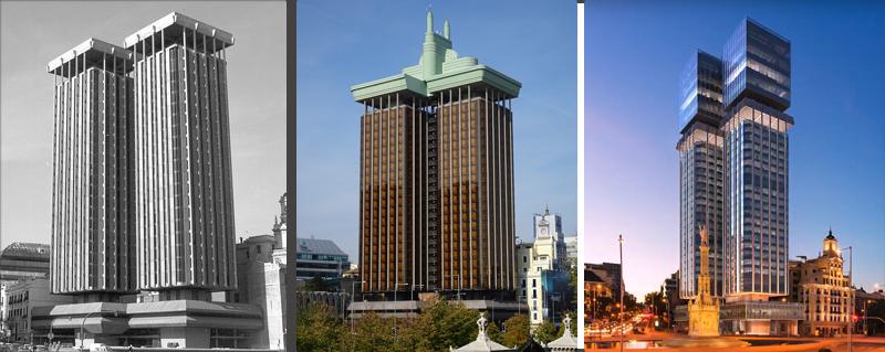 Transformación del edificio a lo largo de su historia.