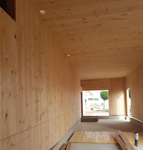edificio de madera