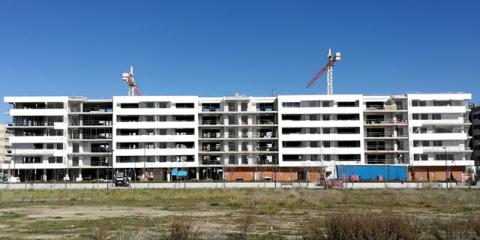 Massivsocialhaus, manzana de 150 viviendas protegidas en Getafe, Madrid